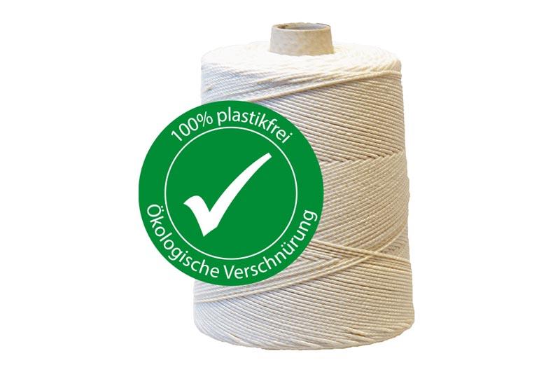 100% plastikfreies Verschnüren und Verpacken